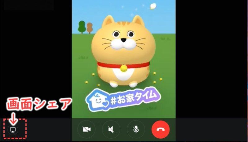 PCビデオ通話画面